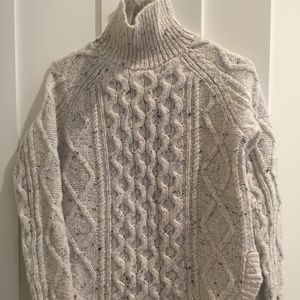 Madewell Turtleneck Sweater in Donegal Wool